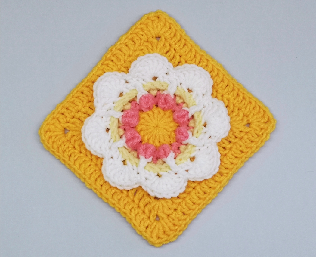 Read more about the article Floral Granny Square Pattern / Crochet Motif #12