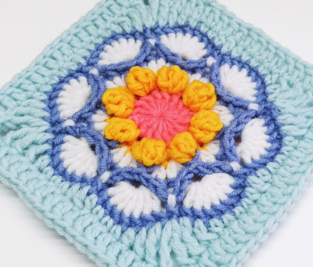 You are currently viewing Crochet flower granny square pattern / Crochet Motif #6