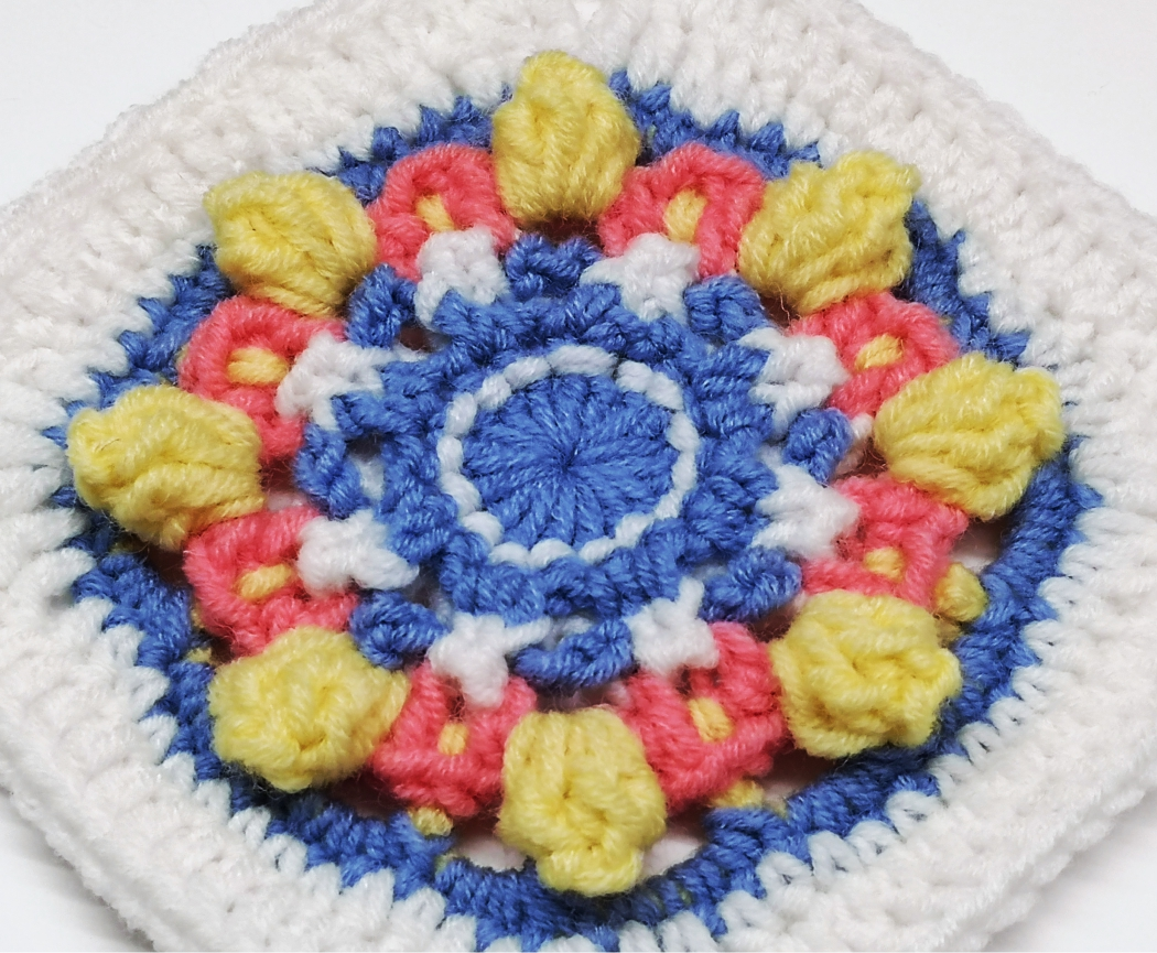Read more about the article Crochet Square for baby girl blanket