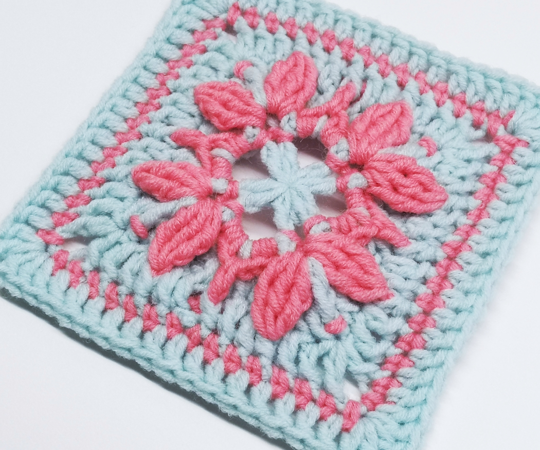 You are currently viewing Crochet granny square pattern / Crochet Motif #62