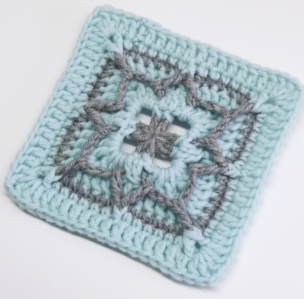 Read more about the article Crochet granny square pattern / Crochet Motif #63