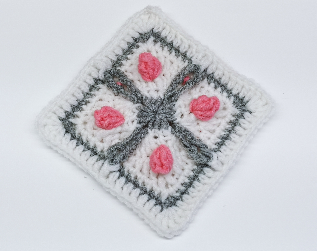 Read more about the article Crochet Granny Square Pattern / Crochet Motif #67