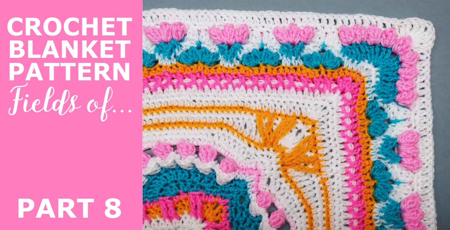 """Read more about the article Crochet Throw Blanket 'Fields of …"""" Pattern, Part 8"""