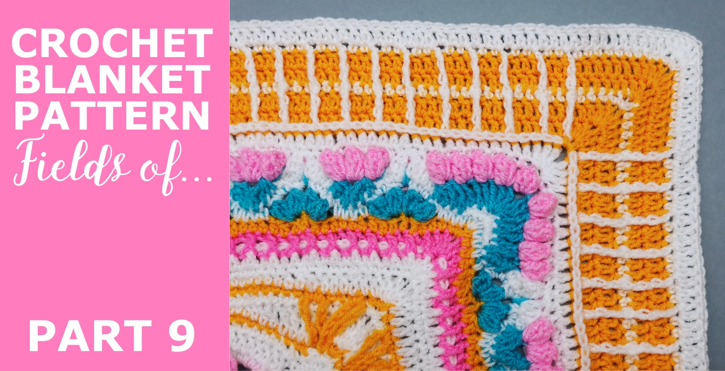 """Read more about the article Crochet Throw Blanket 'Fields of …"""" Pattern, Part 9"""