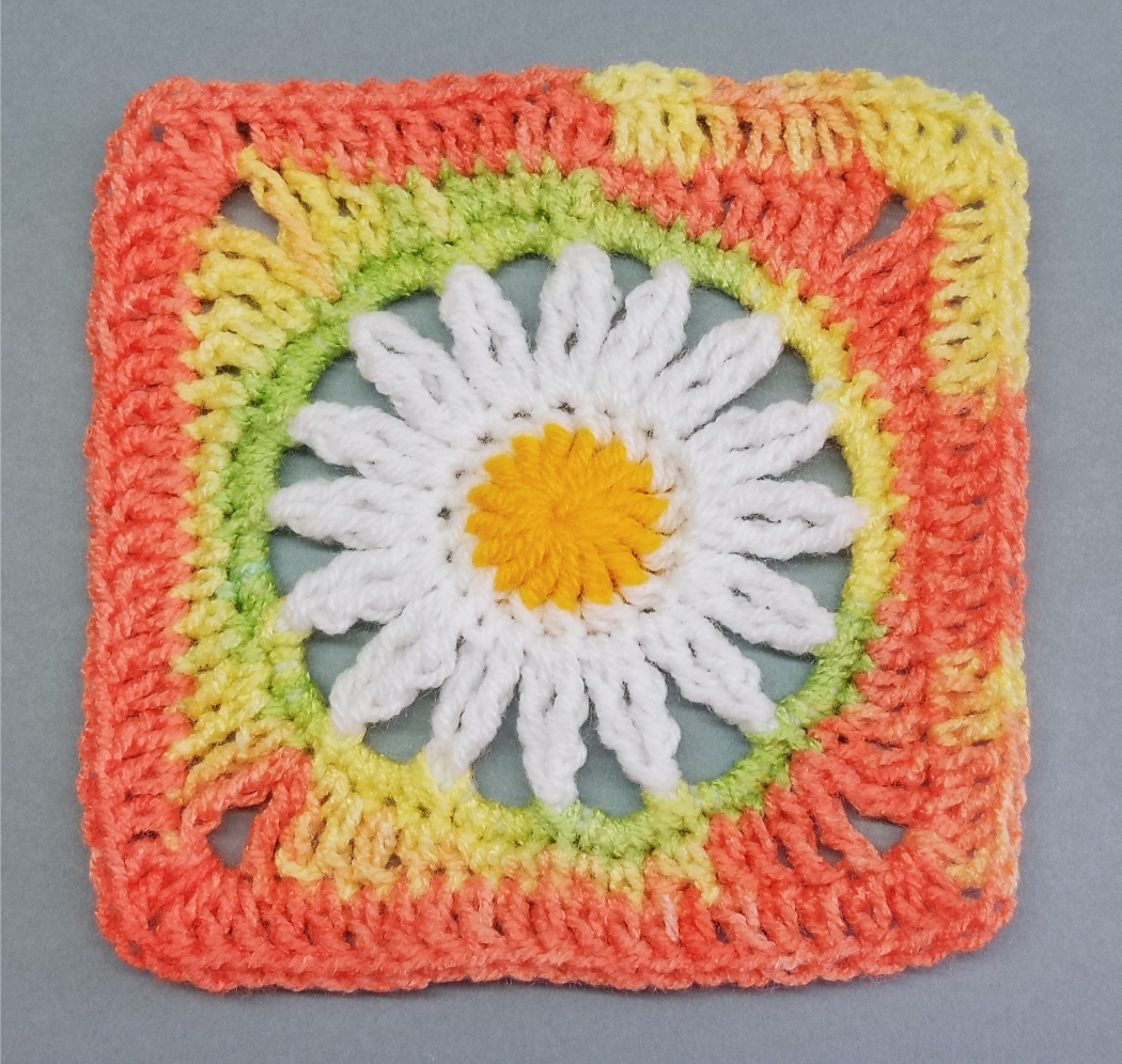 You are currently viewing Crochet Granny Square with Daisy Flower Pattern