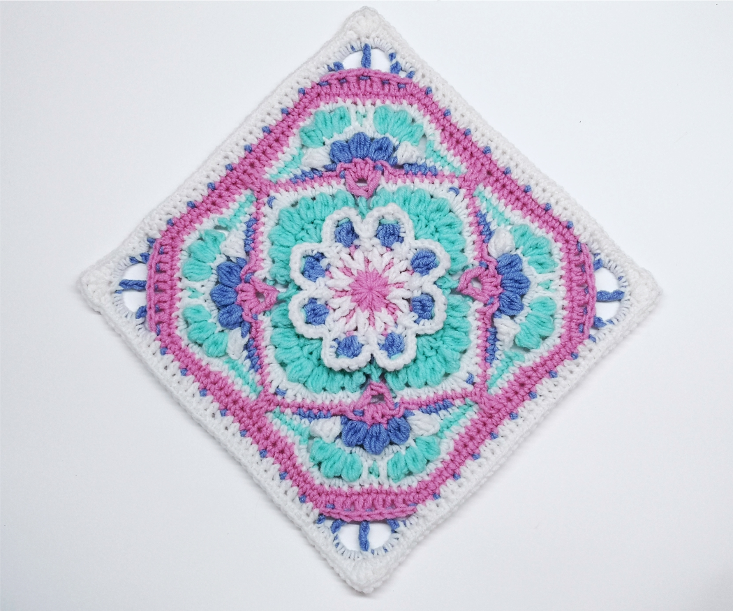 Read more about the article Crochet Afghan Block / Crochet Motif #74