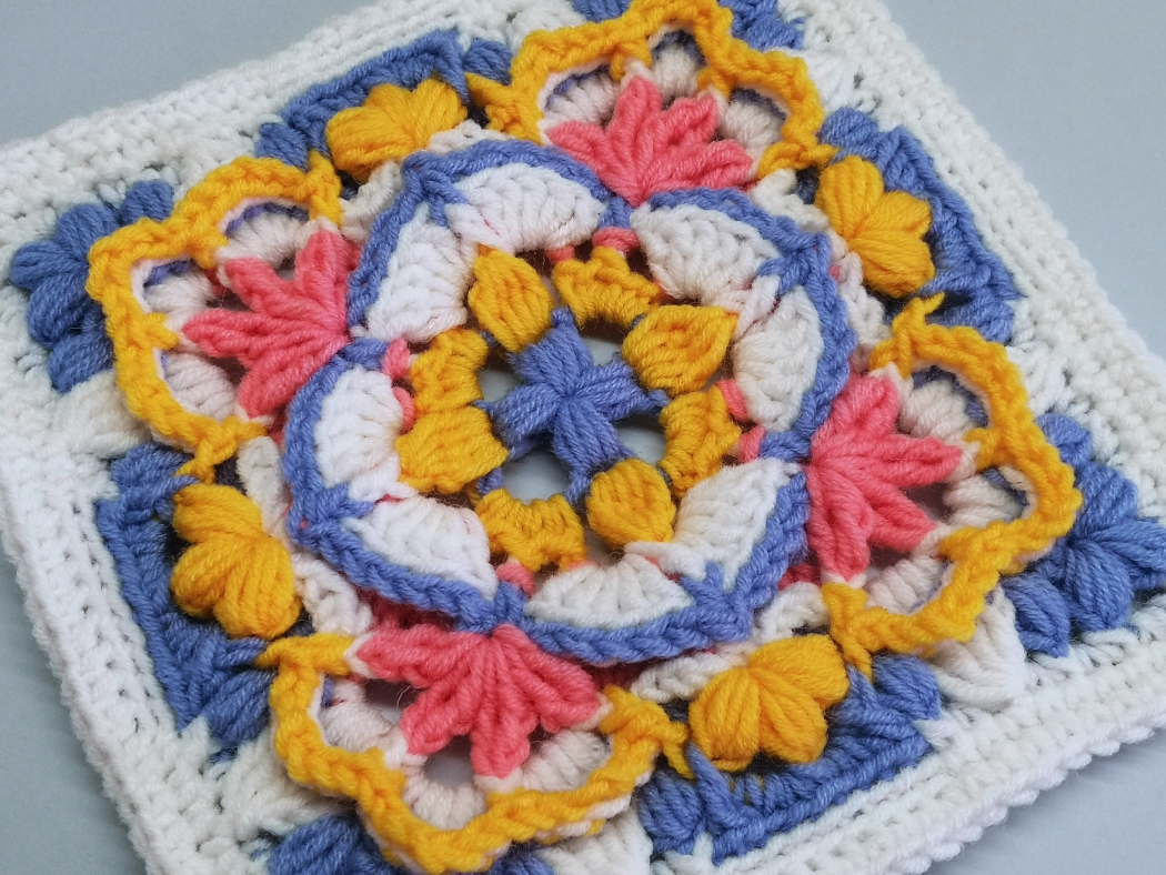Read more about the article Crochet Afghan Block / Crochet Motif #82