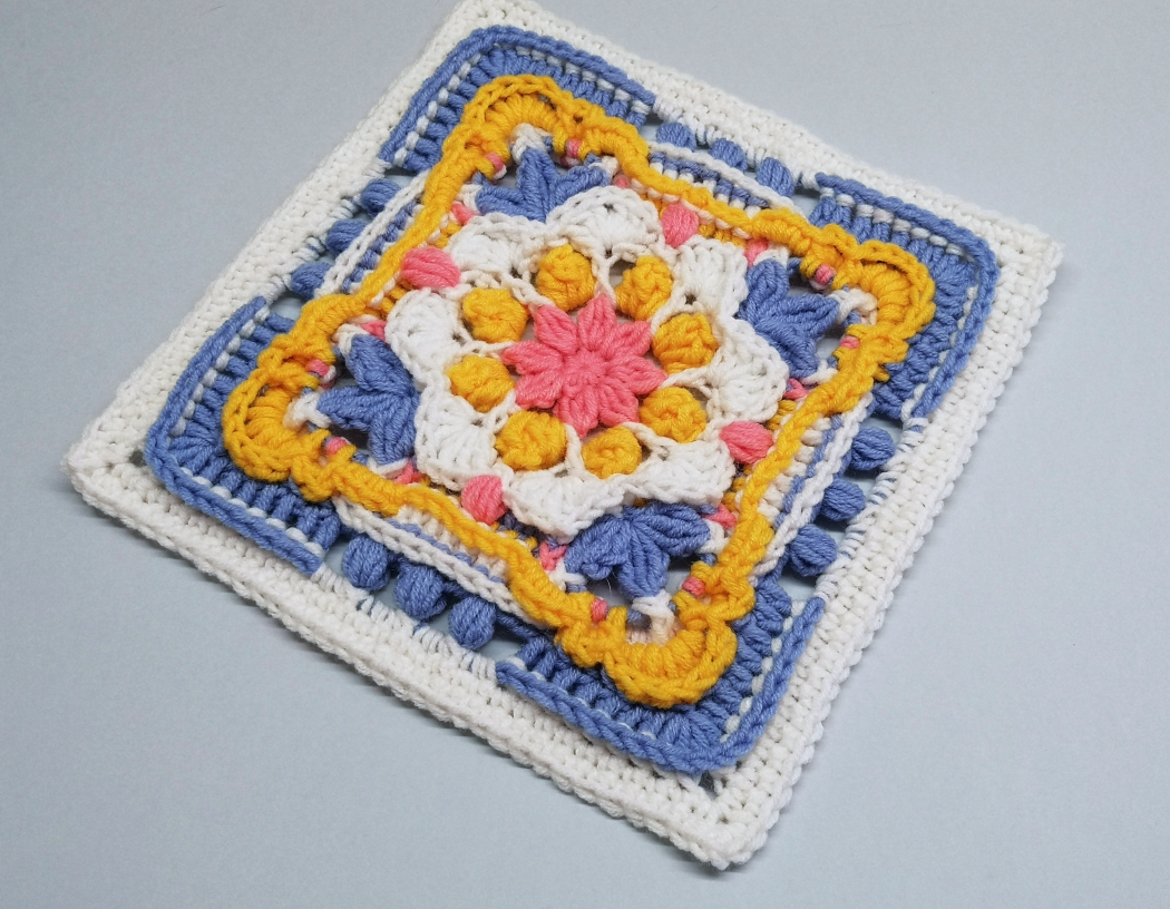 Read more about the article Crochet Afghan Block / Crochet Motif #87