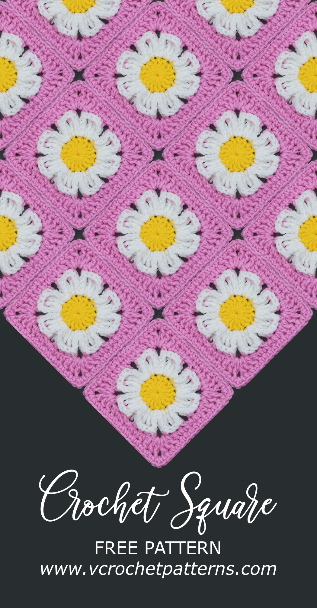 Read more about the article Easy Crochet Granny Square with Daisy Flower Pattern / Crochet Motif #41