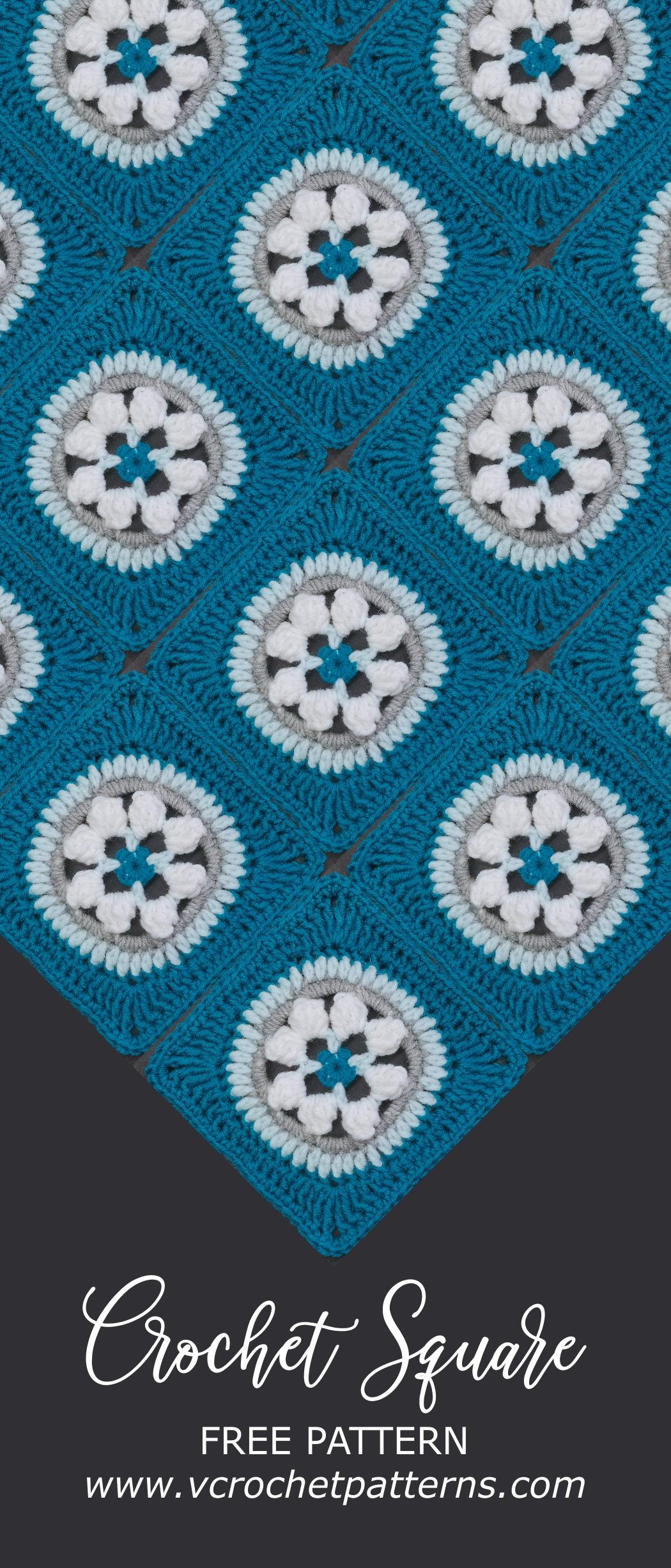 Read more about the article Crochet granny square pattern / Crochet Motif #49