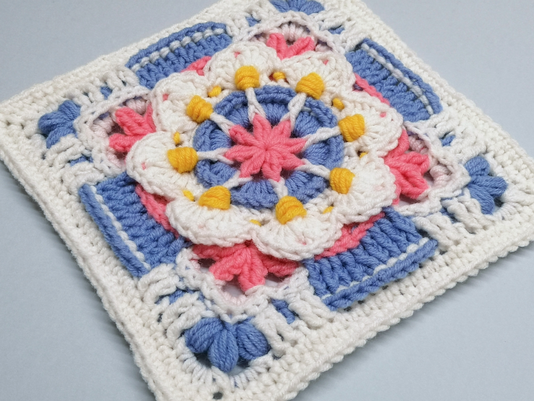 Read more about the article Crochet Afghan Block / Crochet Motif #88
