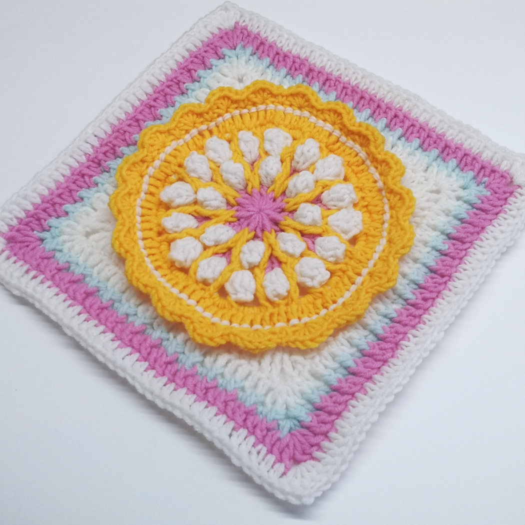 Read more about the article Crochet square with flower / Crochet Motif #20