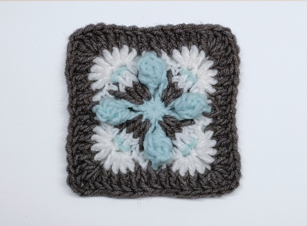Read more about the article Crochet mini square pattern / Crochet motif #48