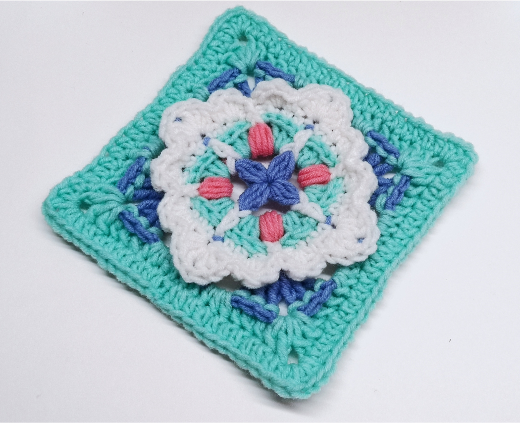 Read more about the article Crochet Granny Square Pattern / Crochet Motif #90
